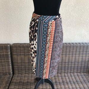 Melissa Paige Petite Pencil Skirt Textured Animal